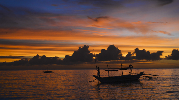 Sunset at Diniwid, Boracay