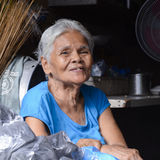 Elderly shopkeeper, Manila