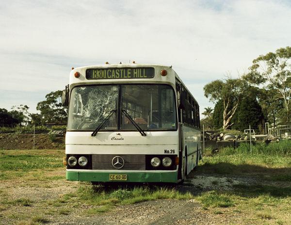 Broken bus, north Sydney