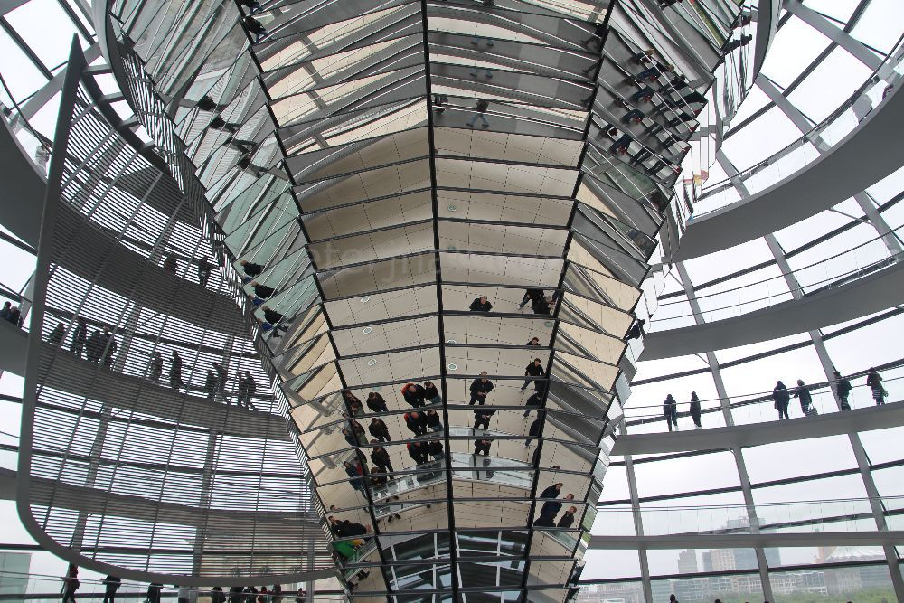 Inside the roof, Reichstag Building, Berlin