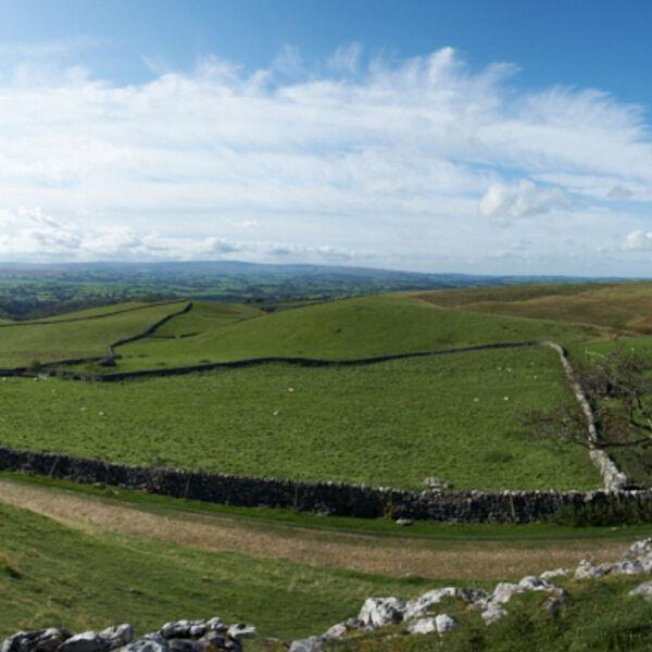 Panoramic view of Ingleton area Cumbria