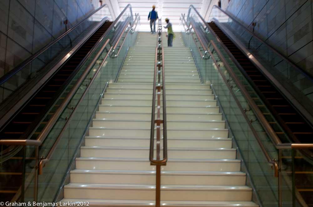 Escalator Al Ghubaiba Station  Dubai Metro Project
