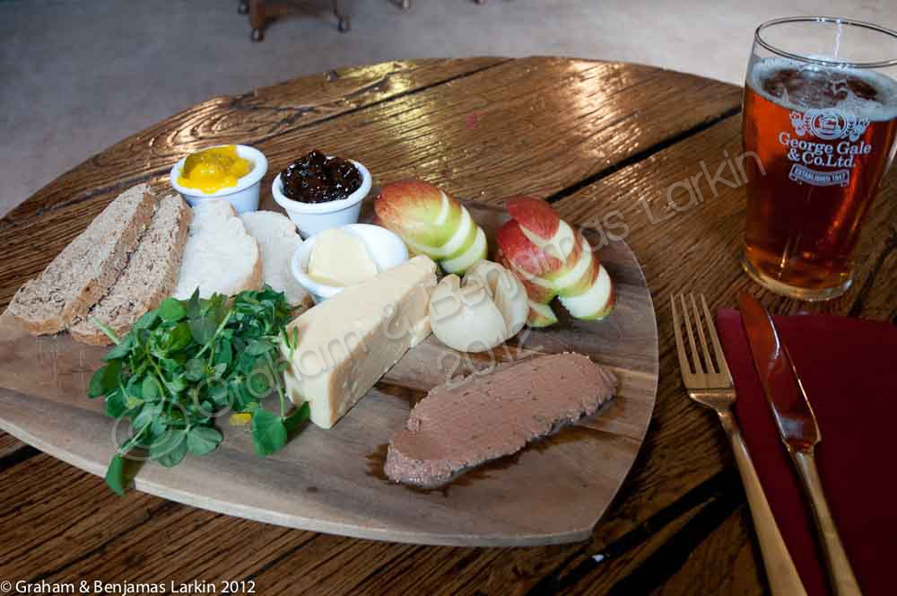 Ploughmans lunch at the Red Lion Chalton Hampshire