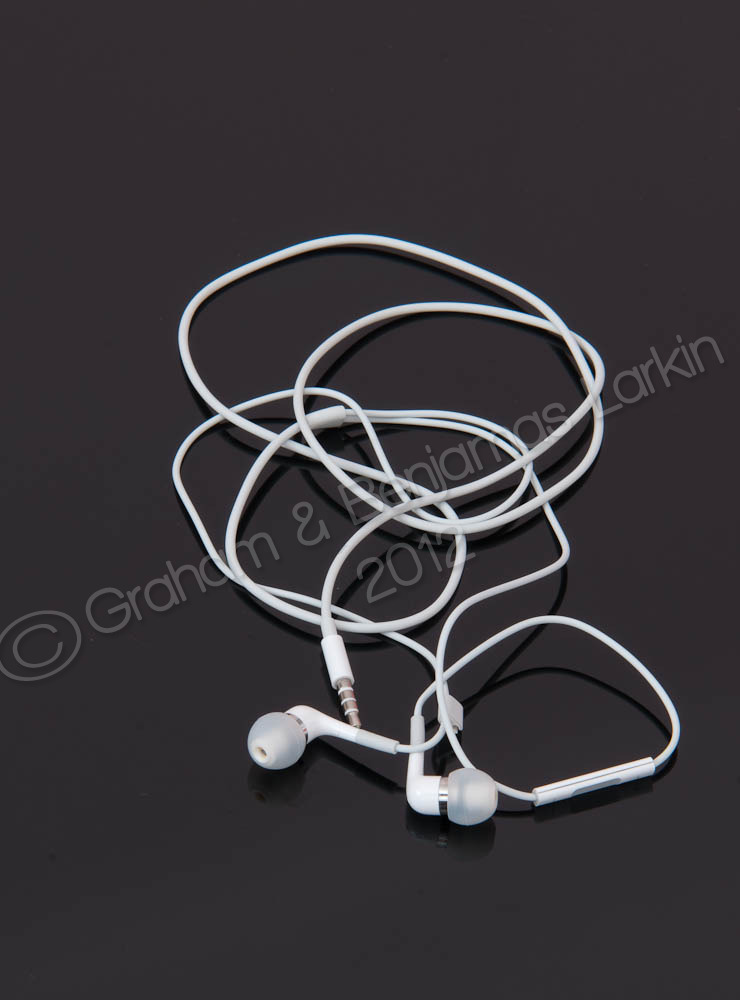 Ear Phones in White