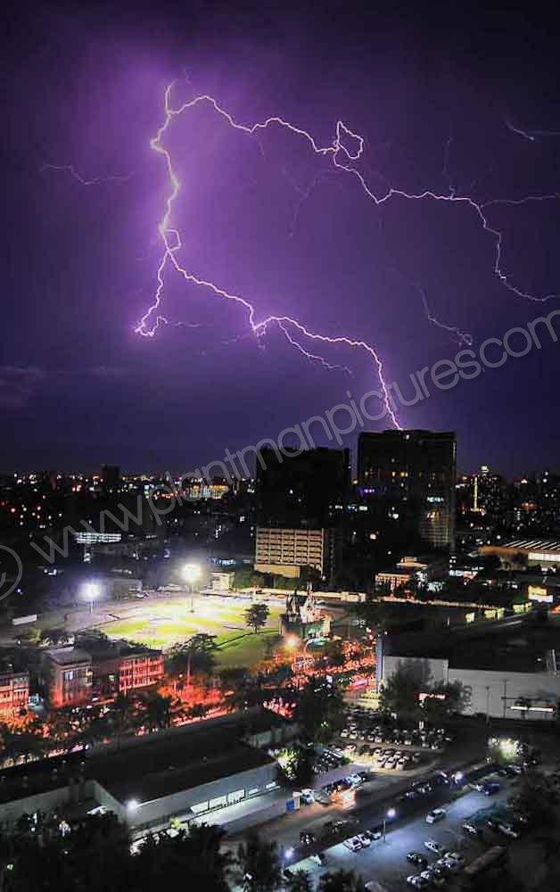 Lighting  over Bangkok
