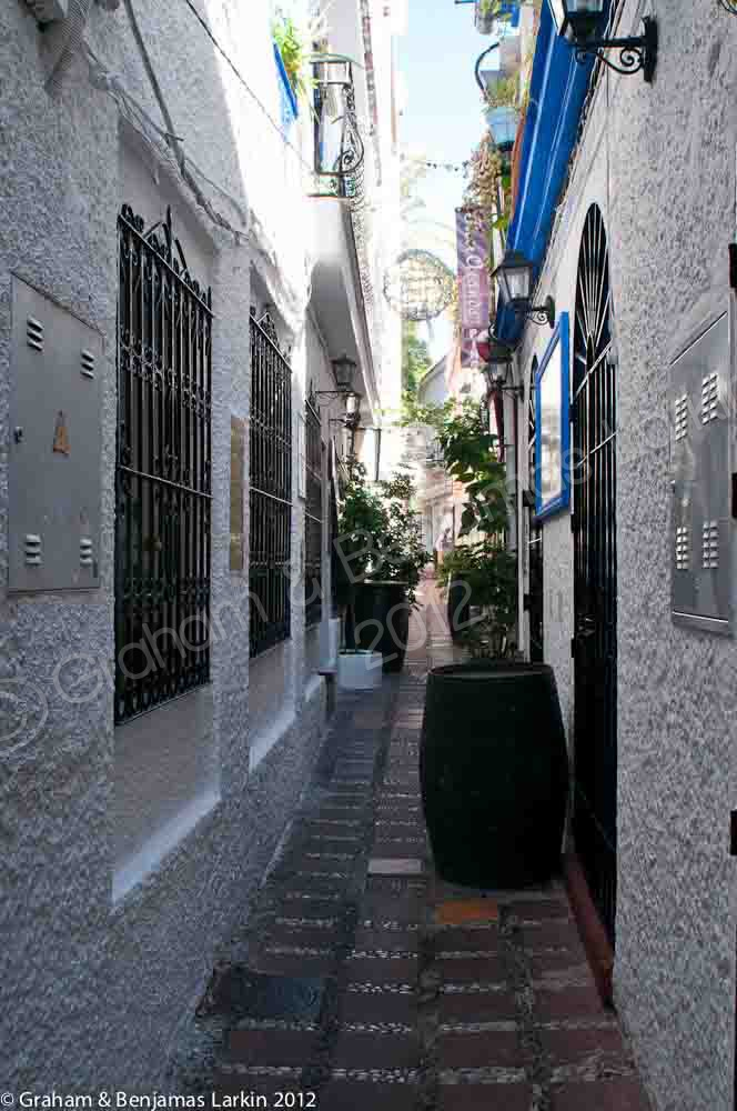 Alley of Bars in the Old Town Marbella