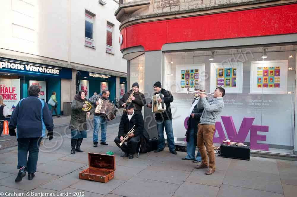 Street Band In Oxford