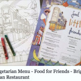 A colouring sheet for Food for Friends kid's menu