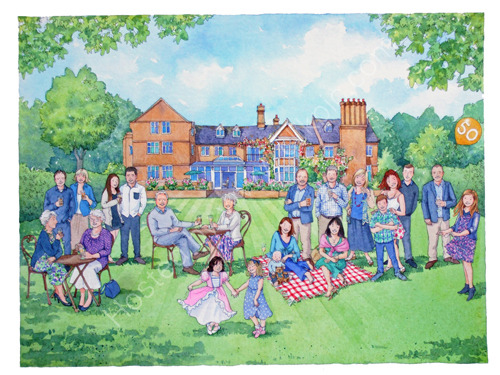 A Golden Celebration - a commissioned watercolour painting