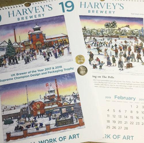 The Harvey's Brewery Calendar for 2019