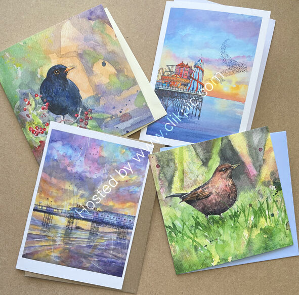 Pack of 4 cards- your choice of image