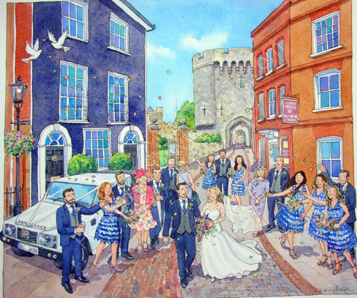 A wedding at Lewes Castle