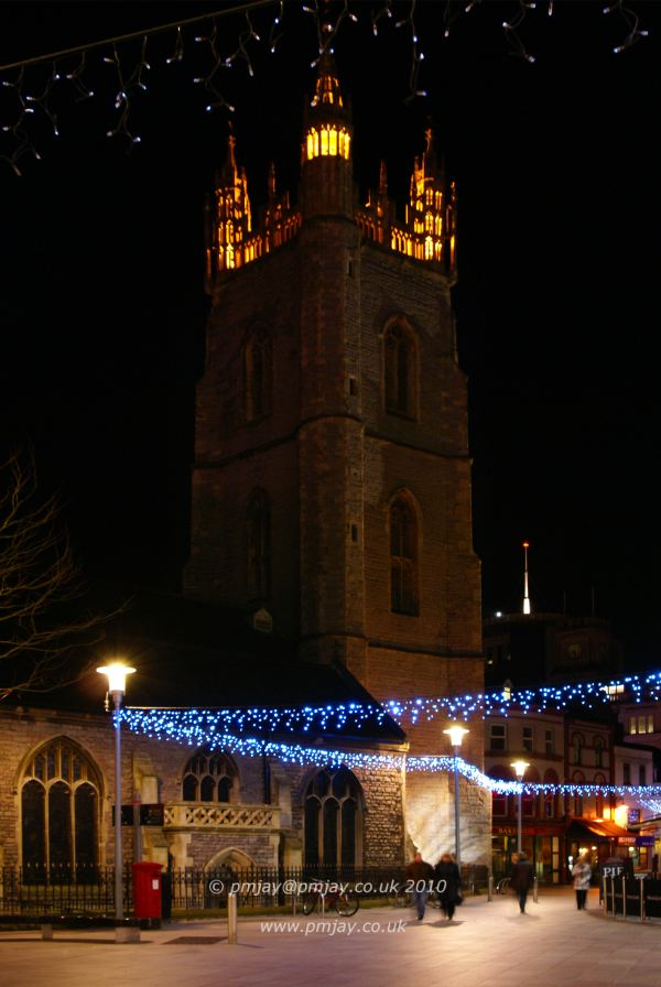 St John's Church, New Years Eve, Cardiff