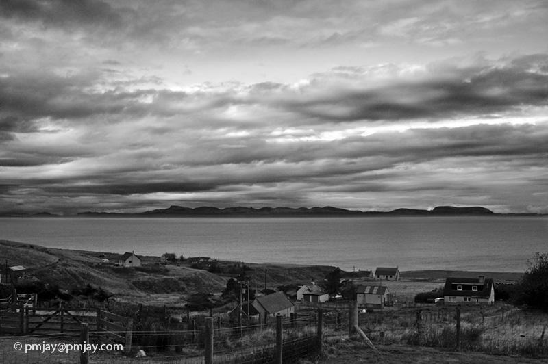 Dusk over Skye from Melvaig