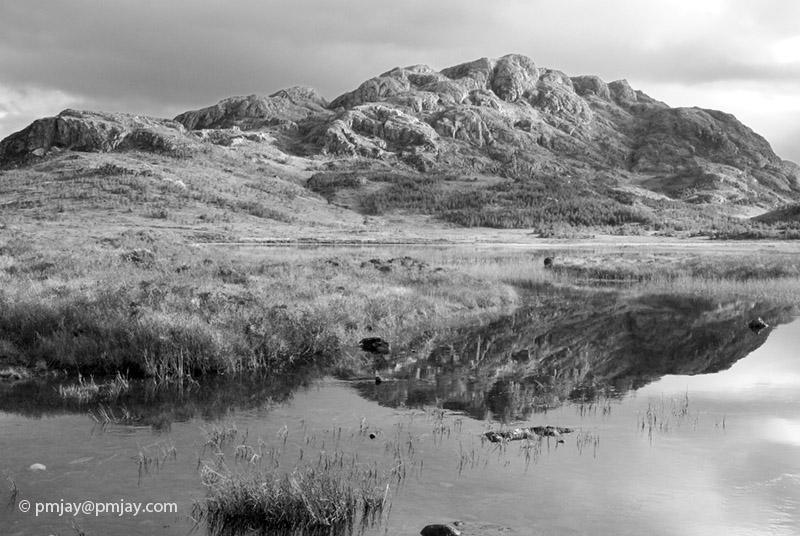 Meall Lochan a' Chleirich reflection