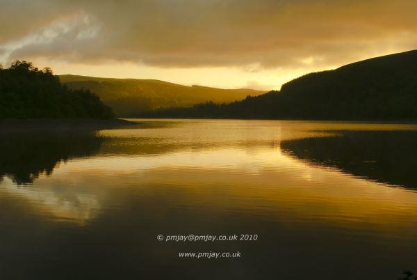 Dawn over Pontsticill Reservoir