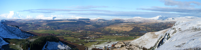 The Brecon Beacons from the Rhigos Viewpoint