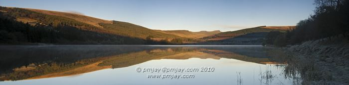 The Brecon Beacons in dawn's first light