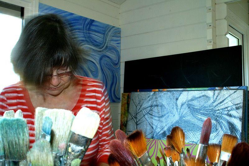 Rita in her studio