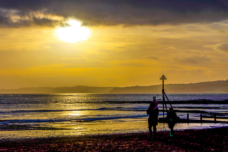 Sunset Exmouth by Denzil Tancock