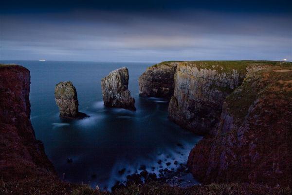 Stack Rocks by Moonlight