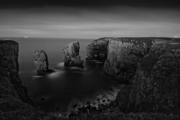 Stack Rocks by Moonlight