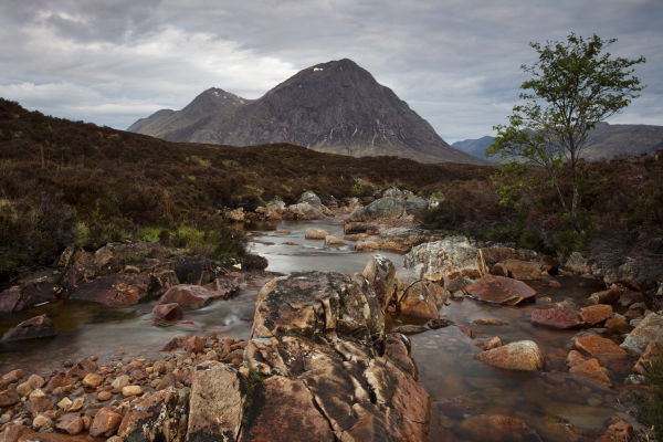Buachialle Etive Mor from the River Coupall