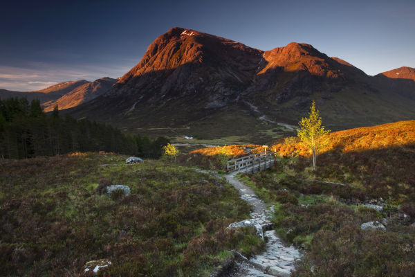 First Light Hits Buachaille Etive Mor