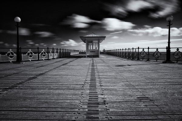 Swanage Pier B&W