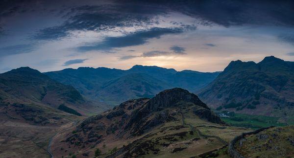 Langdale Valley from Lingmoor Fell