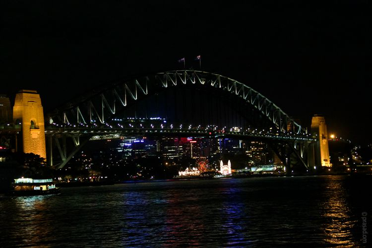 Harbour Bridge Night View, Sydney