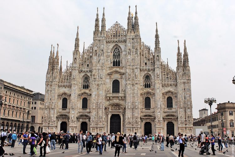 The Duomo of Milan.