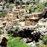 The abandoned stone village in Wadi Bani Habib