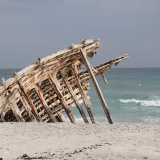 Shipwreck remains in Masirah