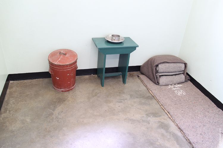 Prison room of Nelson Mandela