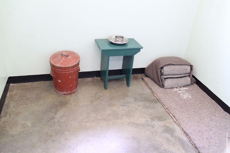 Prison room of Nelson Mandela