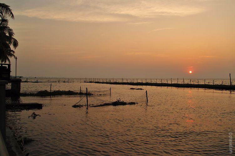 Sunset at Kumarakom, Kerala
