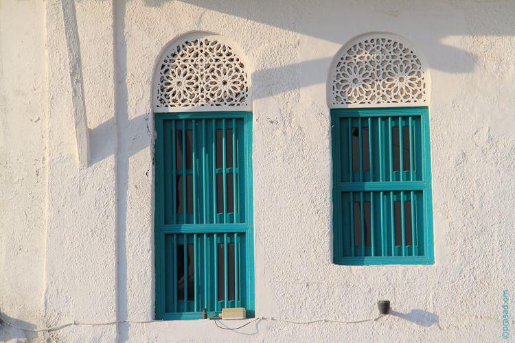 Windows at Old Omani Houses facing Corniche