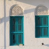Windows at Old Omani Houses facing Corniche