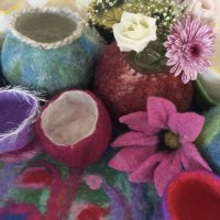 Collection of felted items