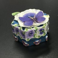 Mini 3D decoupage gift box