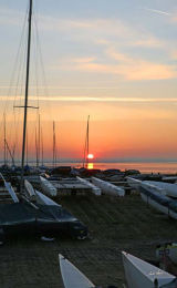 Dinghy Sunset Whitstable Code DSW