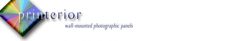Wall-mounted photographic panels