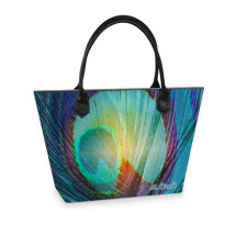 Peacock light Tote bag