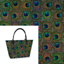 Peacock Colourful Tote