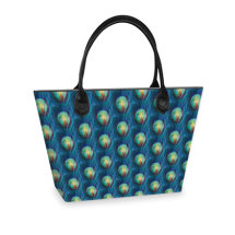 Peacock Multi light Tote bag