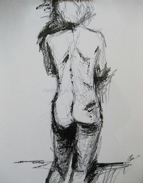 Charcoal Drawing      SOLD