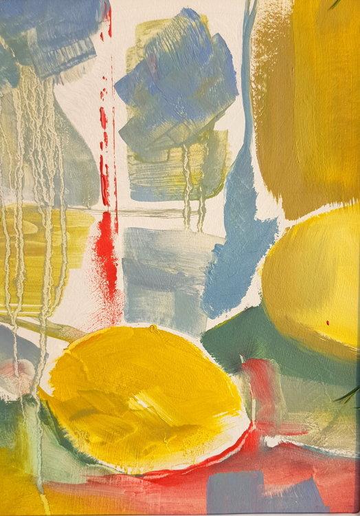 Lemon in landscape