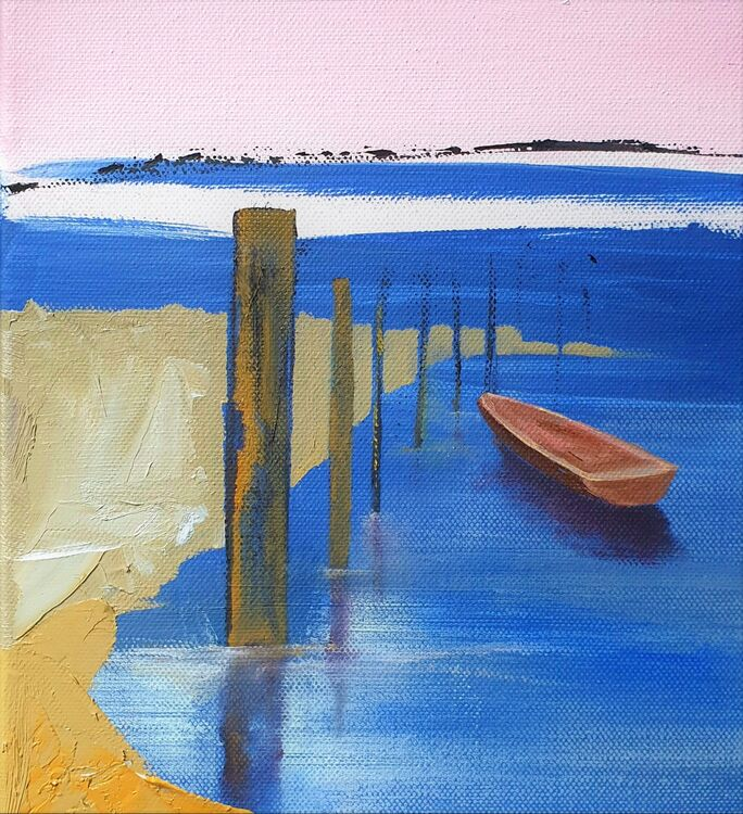 2021 Rowing boat sketch 250 x 300 o-c Artists Support Pledge 2