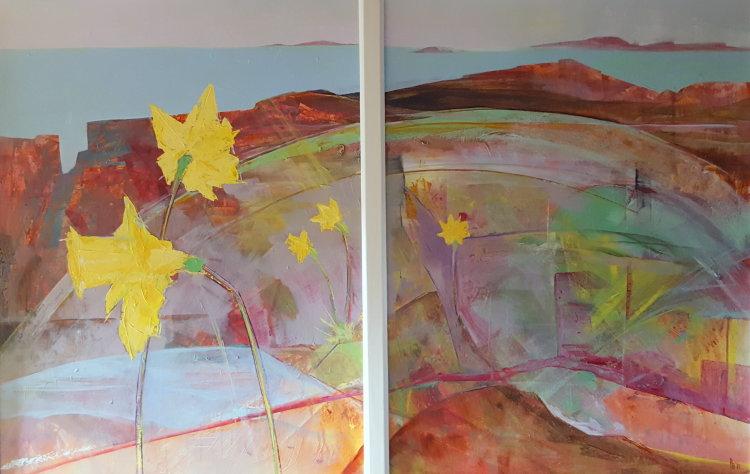 Daffodil diptych